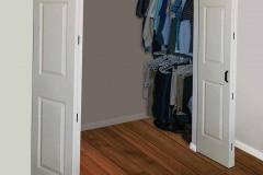 Barnfold hardware on double closet doors