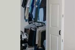 Barnfold hardware on closet door