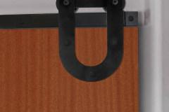 MP Series hardware with horseshoe hanger on wood door