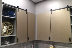Shutter Series hardware on kitchen cabinets