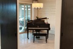 Standard Series corner converging hardware on piano room entrance