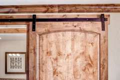 Standard Series hardware on master bathroom barn door