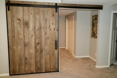 Standard Series hardware with Barn Door Edge Wrap