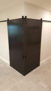 corner converging barn doors with Goldberg Brothers barn door hardware