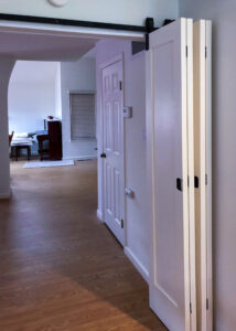 Goldberg Brothers Barnfold folding barn door hardware with 4 door panels