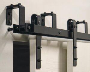 MP series barn door hardware with bypass brackets