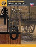 Wagon Wheel style barn door roller hangers