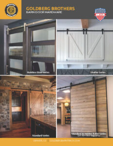 Goldberg Brothers barn door hardware 2-page brochure