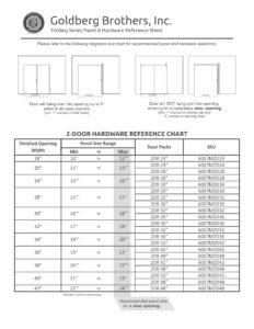 6007B3 Goldberg Brothers - Folding Series - Barnfold - reference charts