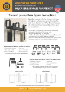 Goldberg Brothers CP MP Series bypass adapters 1-page flyer - November 2019