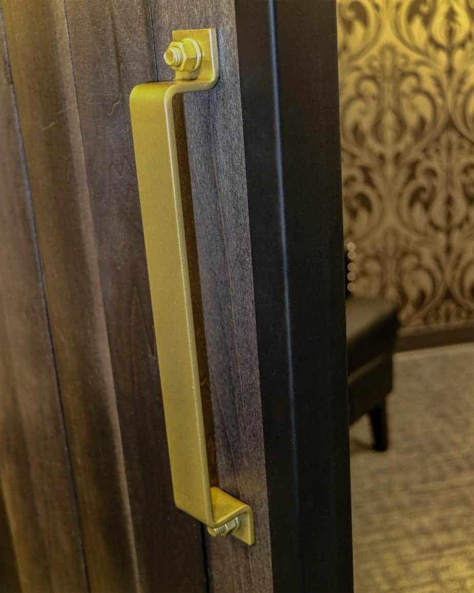 Goldberg Brothers barn door edge wrap on an office door