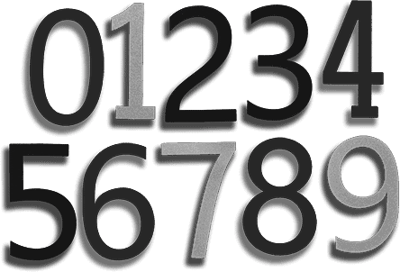 apartment sign digits