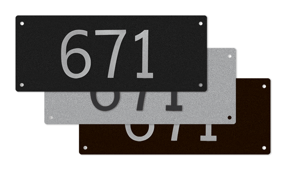Goldberg Brothers apartment number signs