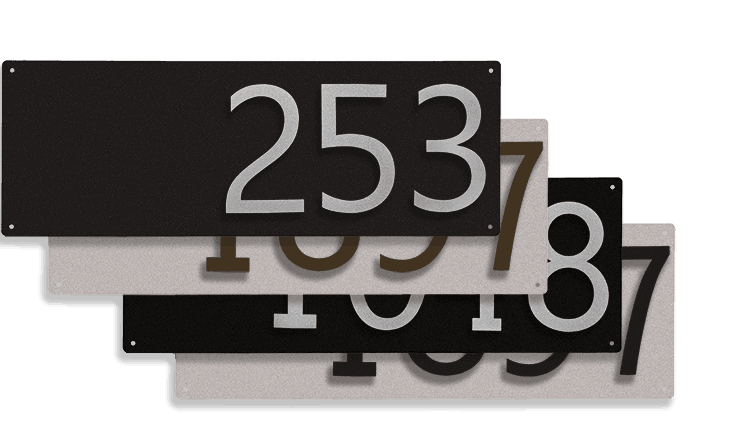 Goldberg Brothers house number signs